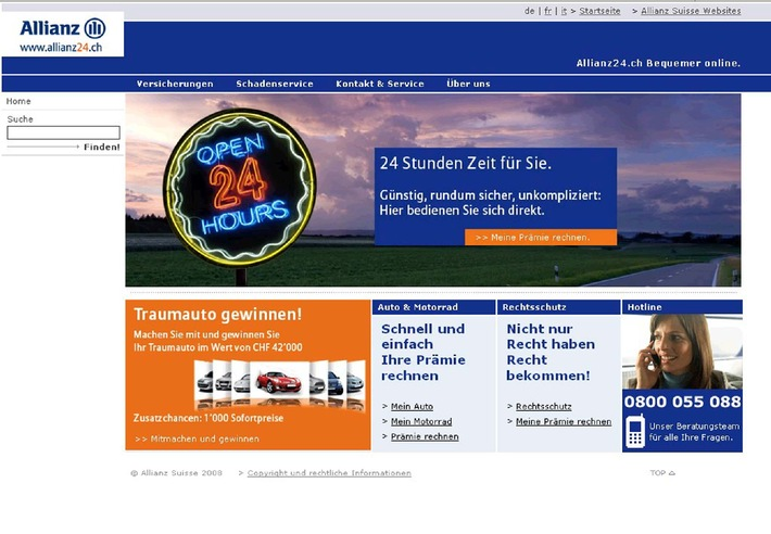 Allianz Suisse startet Direktvertrieb