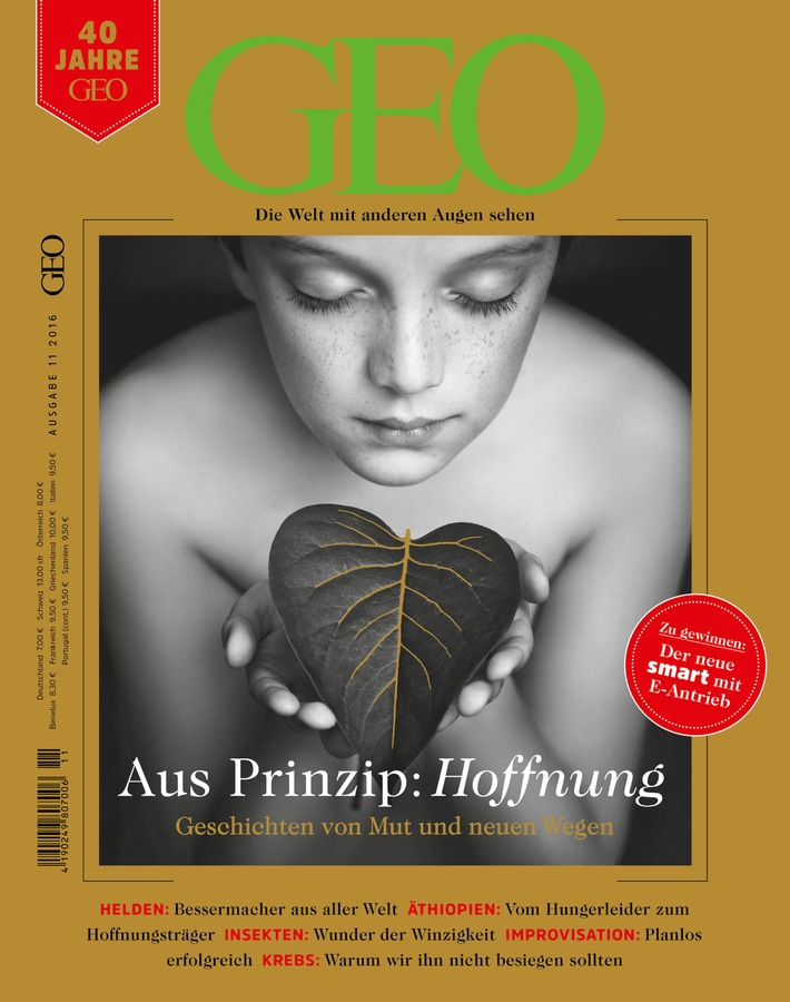 Zu seinem 40. Geburtstag blickt das Magazin GEO zuversichtlich in die Zukunft