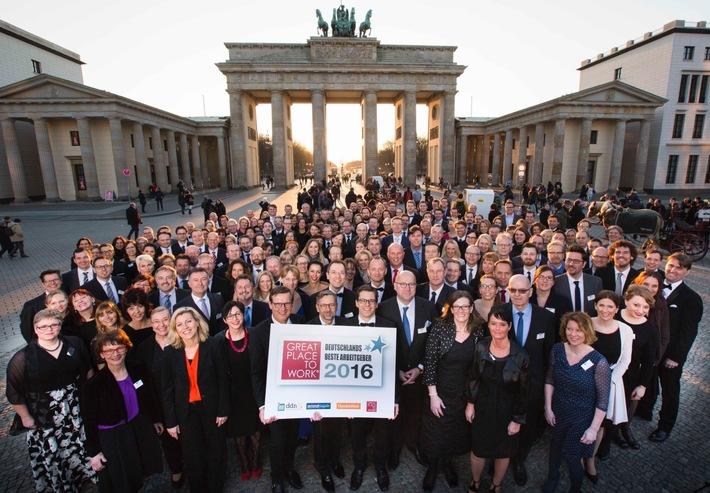 Great Place to Work: Das sind «Deutschlands Beste Arbeitgeber 2016»