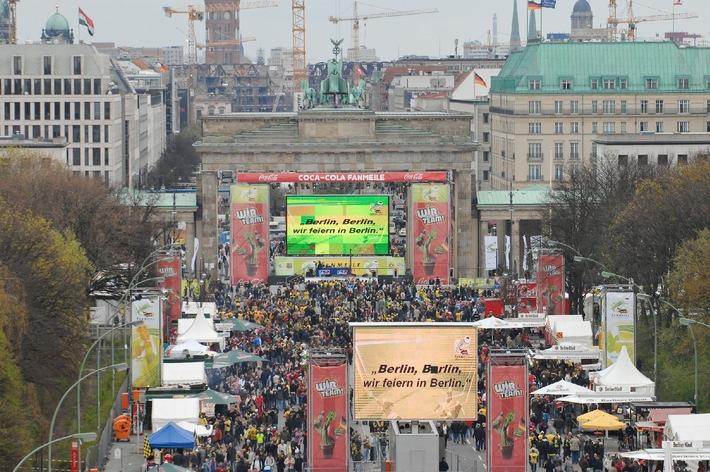 Coca-Cola feiert mit 300.000 Fußballfans das DFB-Pokalfinale