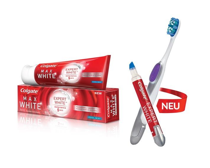 Professionelle Zahnaufhellung für Zuhause: Colgate MaxWhite Expert White ab sofort erhältlich