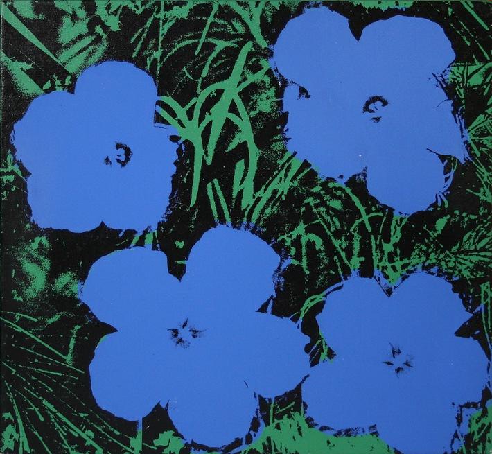 """Andy online! / Die Berliner artnet AG versteigert herausragende Werke zeitgenössischer Künstler im Internet / """"Flowers"""" von Andy Warhol zum Schätzpreis von 1,1 bis 1,5 Mio. US$"""