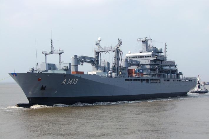"Einsatzgruppenversorger ""Bonn"" wird Flaggschiff im NATO Verband SNMG2"