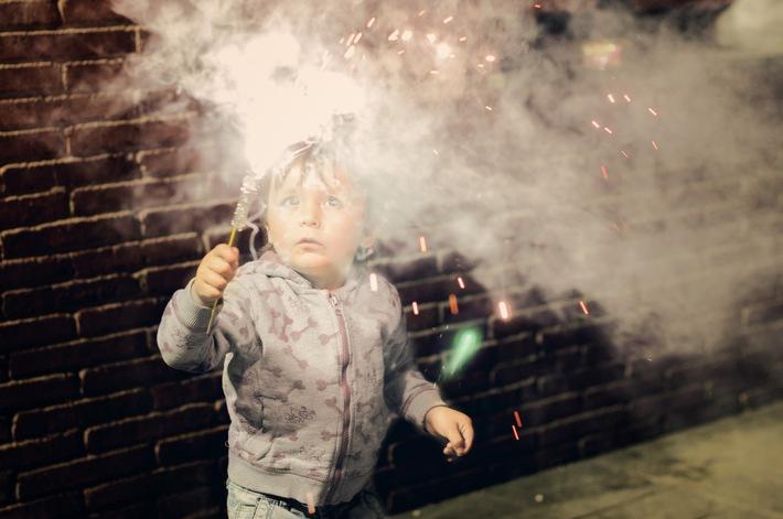 Silvesterfeuerwerk mit Kindern