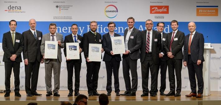 dena verleiht Energy Efficiency Award an Lidl, Bauer, InfraLeuna und Bharat / Drei deutsche und ein indisches Unternehmen für Energieeffizienzprojekte ausgezeichnet