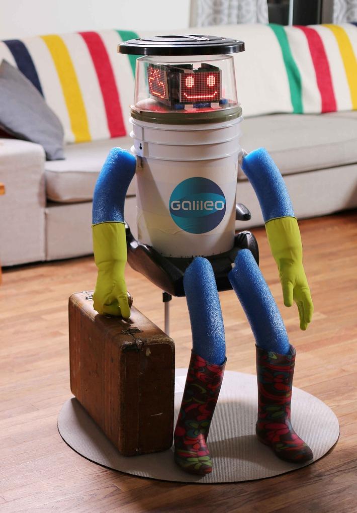 """Ein Roboter trampt durch Deutschland: Das hitchBOT-Experiment ab 13. Februar bei """"Galileo"""""""