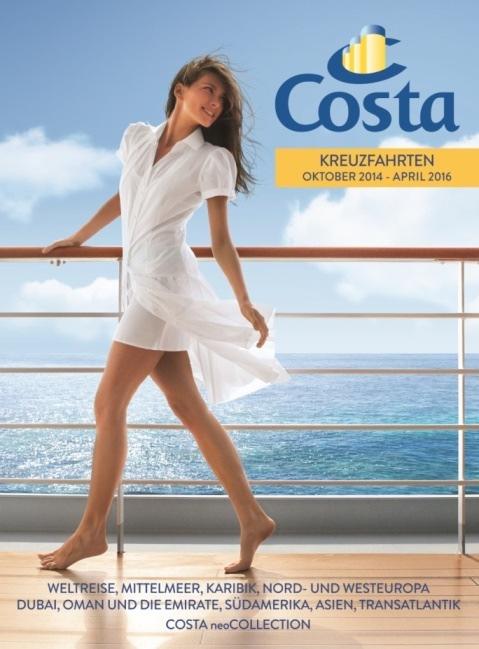 Costa Kreuzfahrten stellt neuen Katalog 2015/2016 vor: 553 Kreuzfahrten, 261 Destinationen und 137 Reiserouten weltweit
