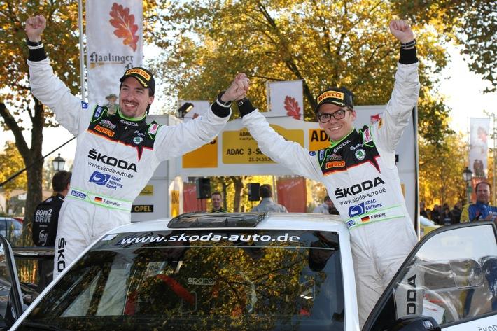 DRM-Start: Kreim/Christian wollen mit SKODA AUTO Deutschland den Sieg