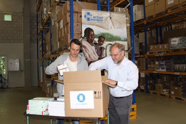 action medeor: Medikamente für die Rettung von Flüchtlingen im Mittelmeer