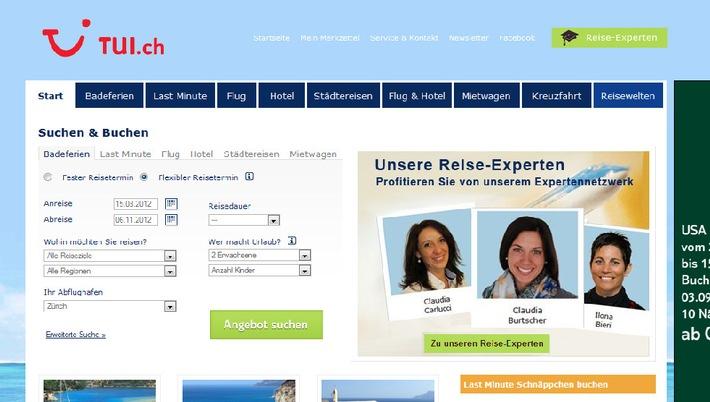 TUI Suisse: Neu sind 209 TUI Reise-Experten online für eine Beratung erreichbar / TUI Suisse verbindet On- und Offline Reisewelt