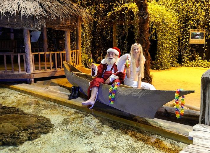 Weihnachtsmann im Urlaub gesichtet / Weihnachtsmann begibt sich auf Weltreise