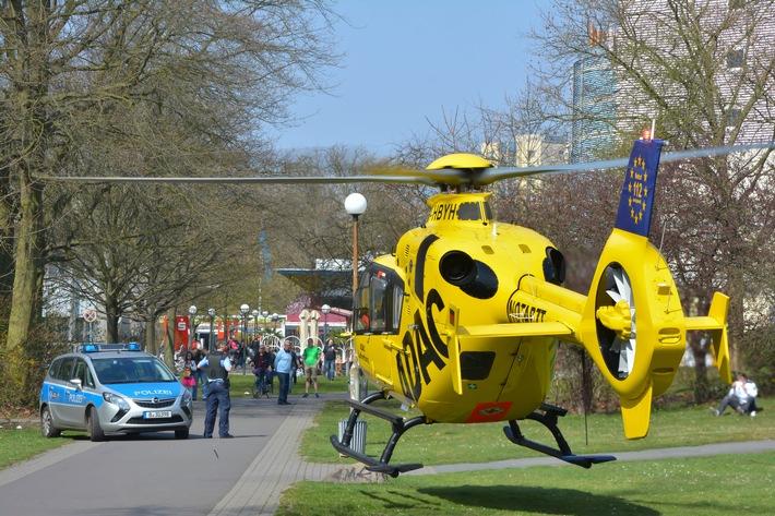 Was tun, wenn der Hubschrauber kommt / Wichtige Regeln im Umgang mit einem Rettungshubschrauber bei der Landung / Sicherheit hat Vorrang
