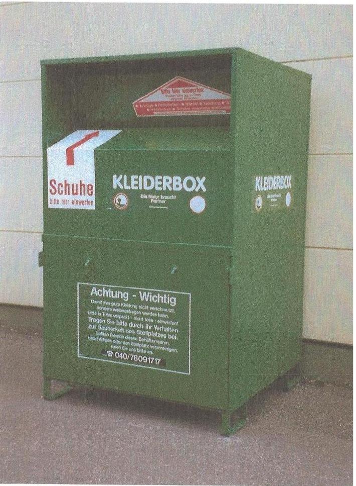 POL-FL: Schleswig - Zeugenaufruf : Altkleidercontainer entwendet