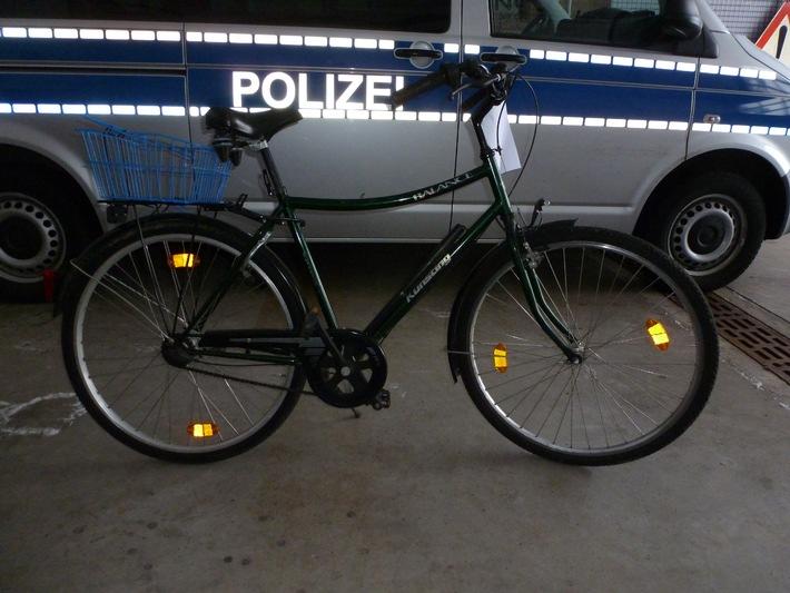 POL-NOM: Aufgefundenes Fahrrad