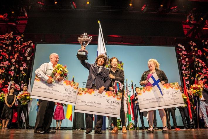 Alex Choi aus Südkorea gewinnt die Weltmeisterschaft der Floristen in Berlin