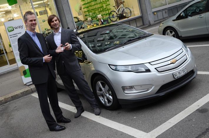 Elektrisierende Partnerschaft von m-way und Chevrolet