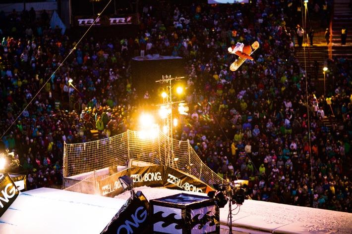 Air & Style Innsbruck: Die Snowboardwelt trifft sich zu 2 Contests, Party und Superstimmung