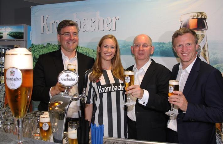 Krombacher wird erneut Hauptsponsor von Eintracht Frankfurt