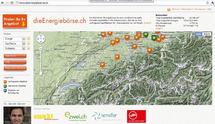 Die erste Schweizer Energiebörse ist online: www.dieenergieboerse.ch