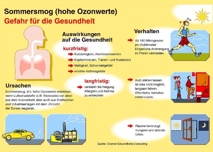 Keine Luft zum Atmen: Sommersmog / Dicke Sommerluft stresst nicht nur Asthmatiker