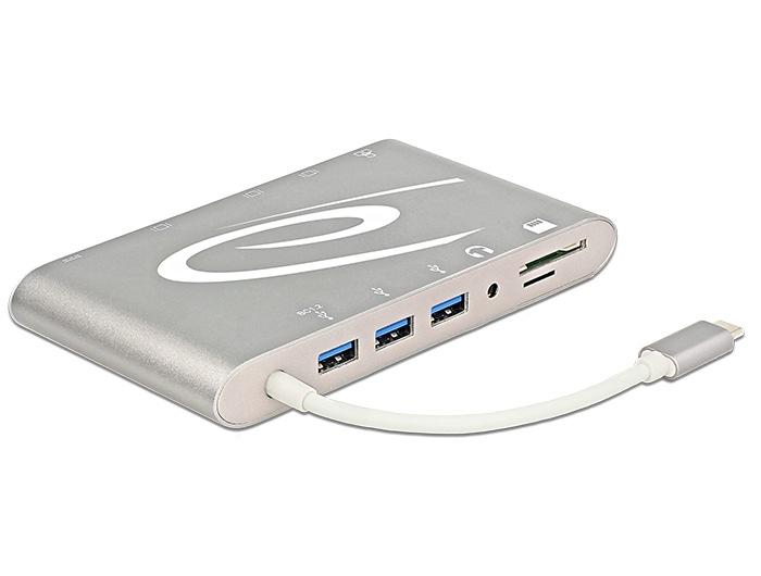 Delock Dockingstation 4K unterstützt Monitore, USB-Geräte, Speicherkarten und mehr