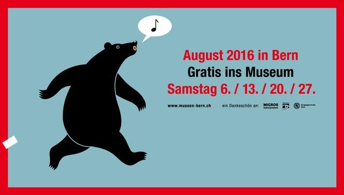 Gratis ins Museum - Besuchen Sie die Berner Museen gratis an den vier Samstagen im August