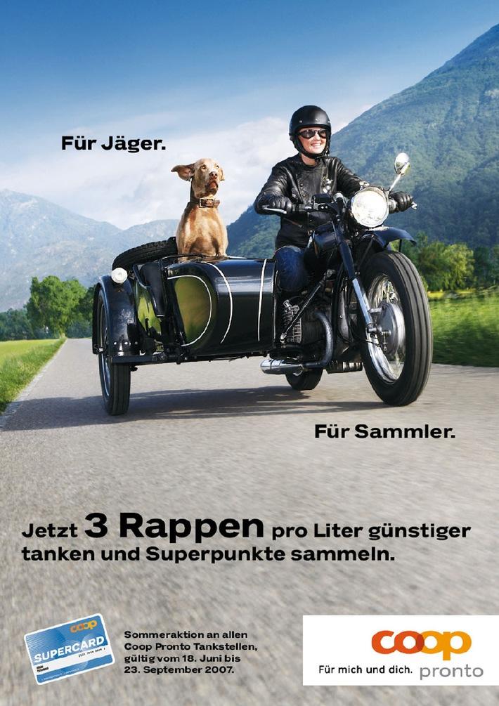 Supercard Sommeraktion an Coop Pronto Tankstellen - Für Jäger und Sammler