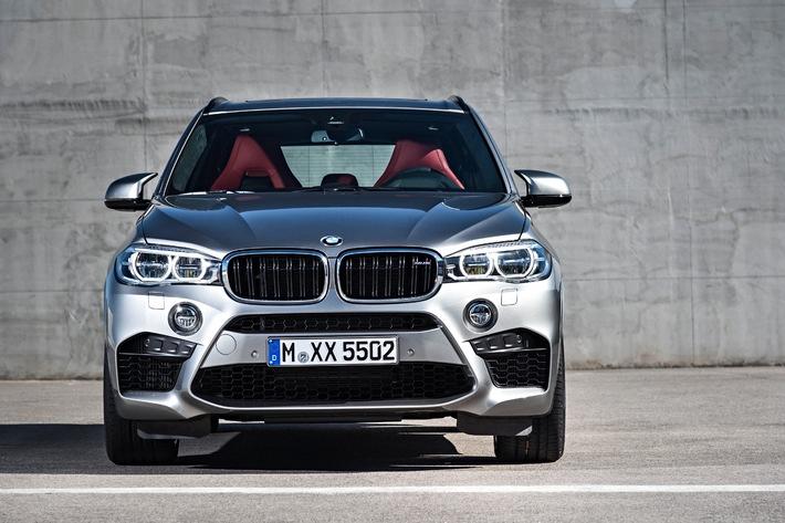 Starke Präsenz: der neue BMW X5 M und der neue BMW X6 M