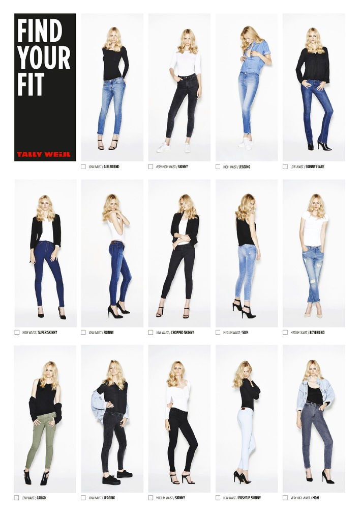 Nadine Strittmatter neues Kampagnengesicht für TALLY WEiJL / Find your fit: TALLY WEiJL launcht Denim Fit Guide