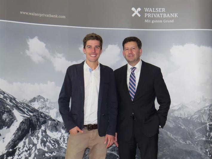 Johannes Rydzek ist neues Testimonial der Walser Privatbank / Walser Privatbank bindet Doppel-Weltmeister der Nordischen Kombination