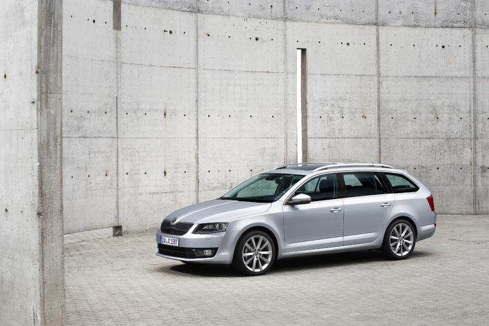 'Unser Auto 2014': Doppelsieg für SKODA Rapid Spaceback und Octavia Combi