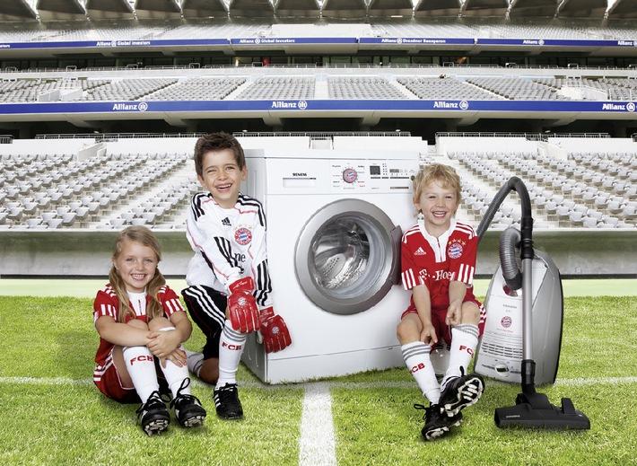 Fan sein fängt früh an / Mit der FC Bayern-Waschmaschine präsentiert Siemens den ersten Fanartikel mit Familienanschluss (mit Bild)