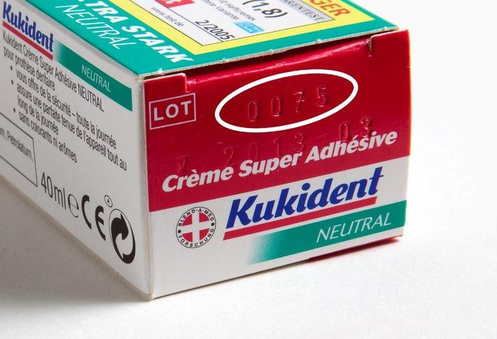 Procter & Gamble ruft vorsorglich zwei Chargen der Kukident Super-Haftcreme Extra Stark in der Schweiz zurück