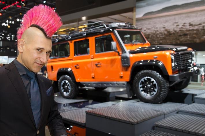 Tout juste de retour d'Inde, Andreas Thiel visite le Salon de l'Automobile de Genève