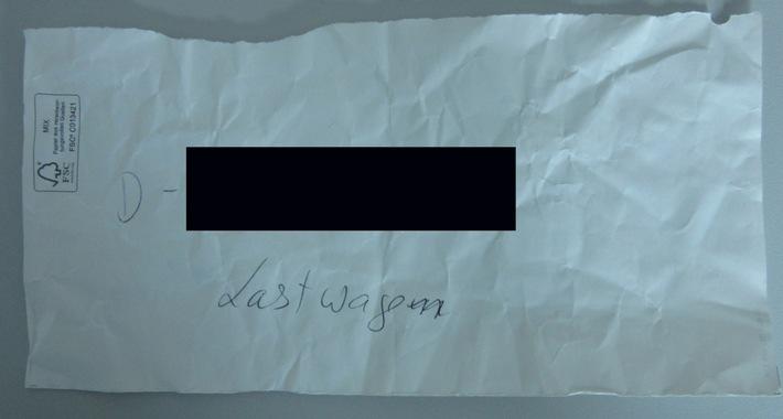 POL-KS: Kassel - Bad Wilhelmshöhe: Unfallflucht an Wilhelmshöher Allee: Verfasser eines Hinweiszettels als wichtiger Zeuge gesucht