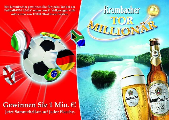 Krombacher Tor-Millionär mit Neuauflage im WM-Jahr / Eine Million Euro als Hauptgewinn garantiert (mit Bild)