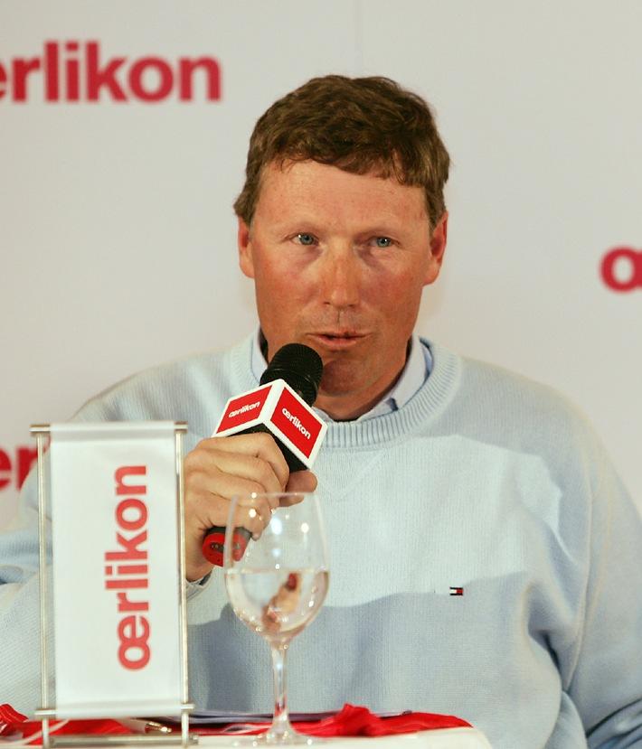 Pirmin Zurbriggen parraine le programme d'encouragement de la relève d'Oerlikon