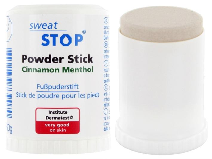 Antitranspirant-Hersteller SweatStop® entwickelt neuartigen Fusspuderstift - Unangenehmes Schwitzen muss nicht sein