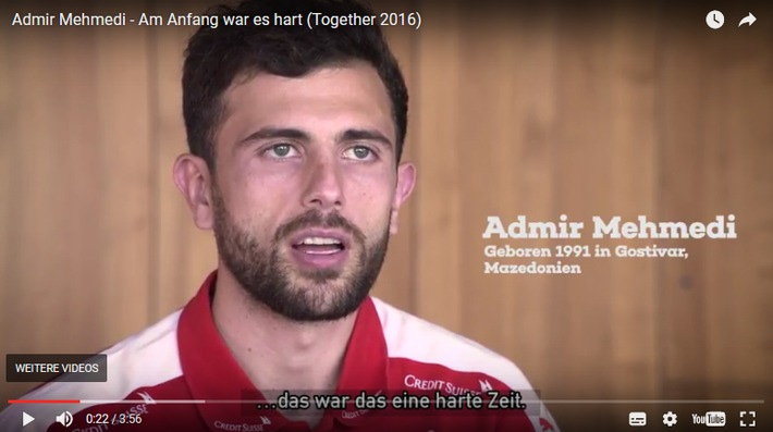 """Integrationsfaktor Fussball gewinnt! / Kurzfilme zur Kampagne Together 2016 gewinnen Europäischen CIVIS Medienpreis """"Fussball + Integration"""""""