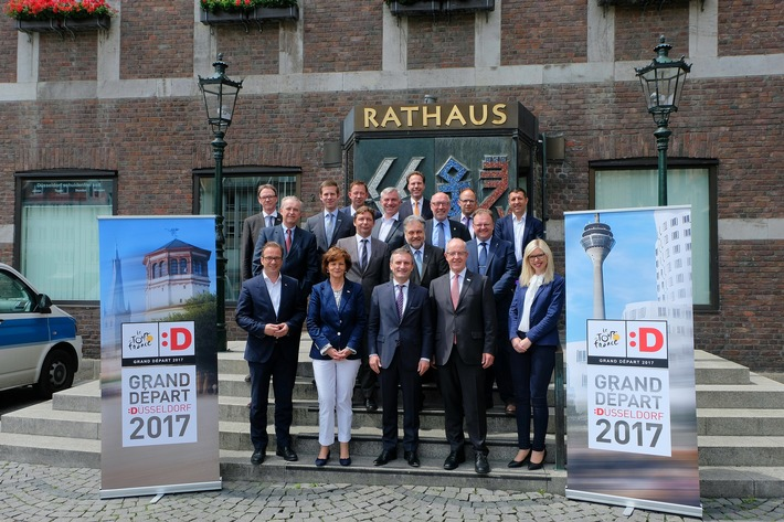The state capital and the region are offering a varied programme for the Grand Départ Düsseldorf 2017 / Mayor Thomas Geisel met fellow mayors for the Tour summit II