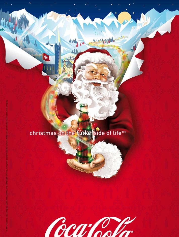 Le Père Noël de Coca-Cola procède au lancement de la fête de Noël et fait des dons pour une oeuvre caritative