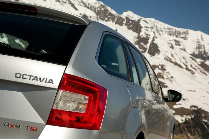 Octavia Combi 4×4: Kraft auf allen Vieren