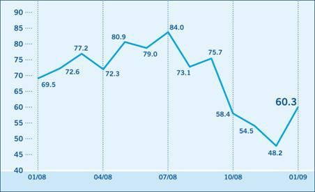 Investor Confidence Index steigt im Januar von 48,2 auf 60,3