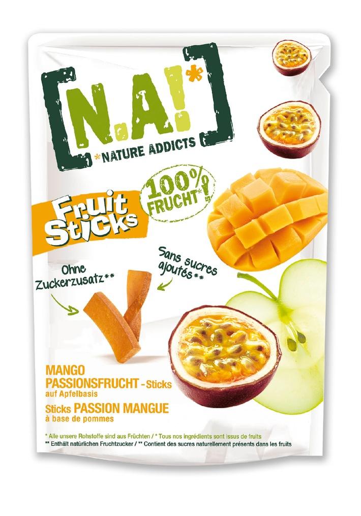 Der beliebte Fruchtsnack N.A!* jetzt in neuer Form und mit mehr Inhalt