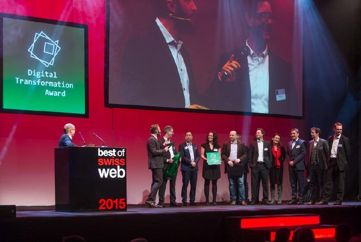Der erstmalig verliehene «Swiss Digital Transformation Award» geht an die SBB