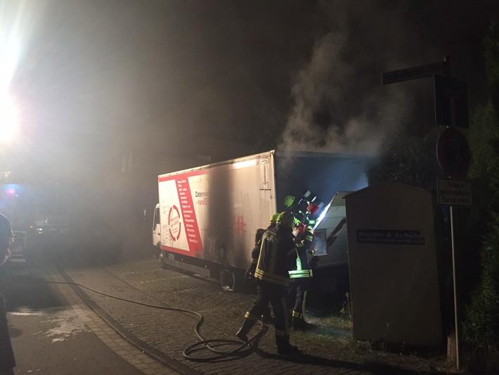 FW-OE: LKW Brand schnell unter Kontrolle