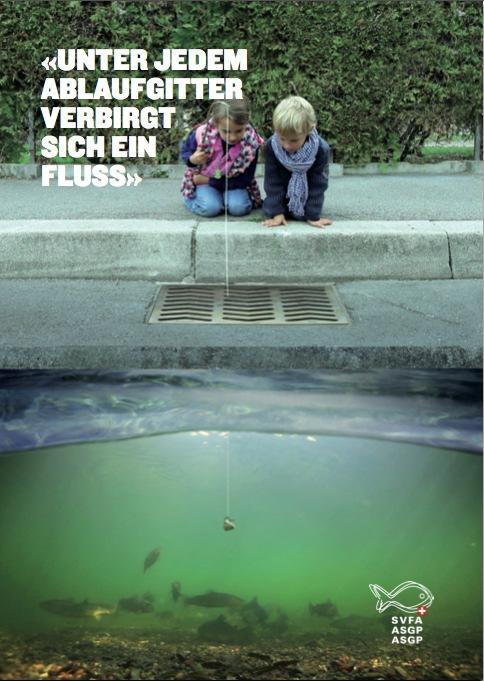 Unter jedem Ablaufgitter verbirgt sich ein Fluss / Eine Sensibilisierungskampagne, demnächst bei uns in Kino und Fernsehen sowie unter www.aquava.ch