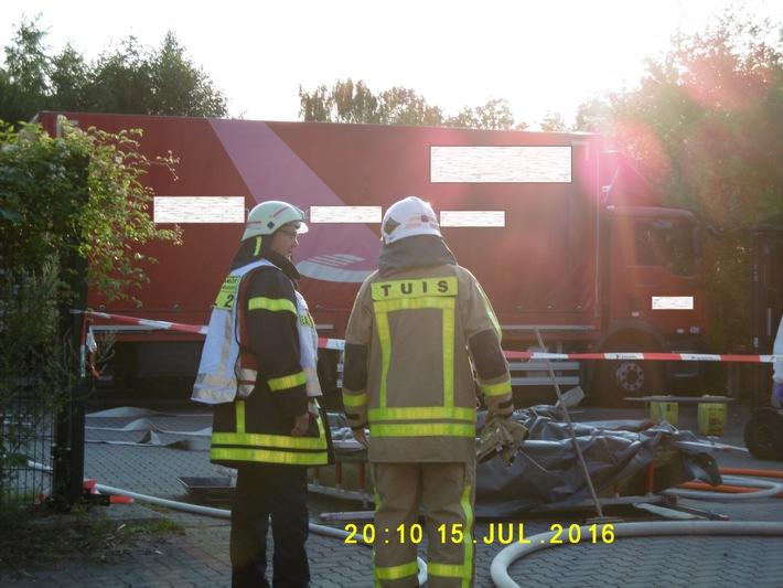 FW-RE: Gefahrguteinsatz - keine Verletzten