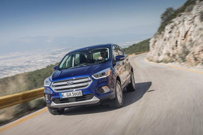 Neuer Ford Kuga: hochmoderne Systeme verbessern Sicherheit, Konnektivität, Komfort und Auftritt