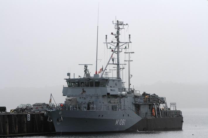 """Minentauchereinsatzboot """"Rottweil"""" schließt sich NATO-Verband an"""